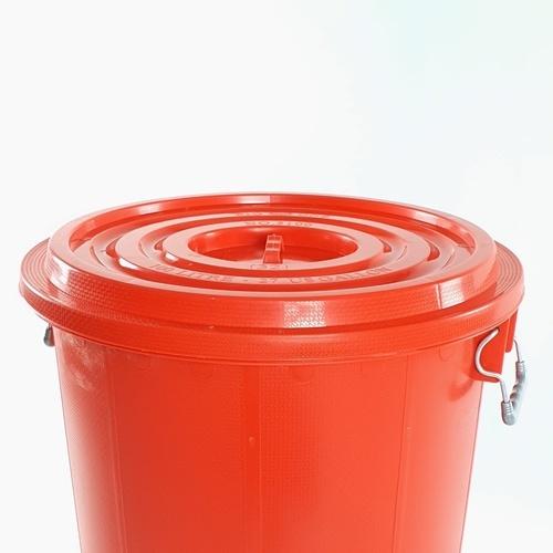 BIGONE ถังพร้อมฝา ขนาดบรรจุ  80 ลิตร  มาตรฐาน แดง