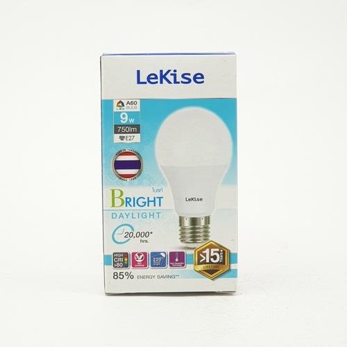 LEKISE หลอดไฟ แอลอีดี A60 9 วัตต์ เดย์ไลท์ Bright สีขาว