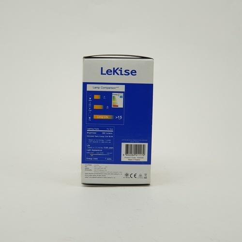 LEKISE หลอดไฟ แอลอีดี A60 7 วัตต์ วอร์มไวท์ Bright สีเหลือง