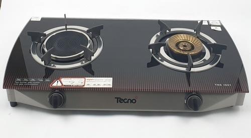 TECNOGAS เตาแก๊สตั้งโต๊ะ 1 หัวอินฟาเรด 1 หัวแก๊ส TNS IG01 สีดำ