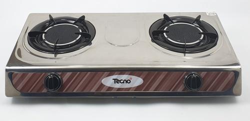 TECNO* เตาแก๊สตั้งโต๊ะหน้าสเตนเลส 2 หัวเตาอินฟาเรด  TNS IR 04 S