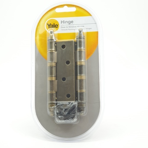 YALE บานพับประตู แกนใหญ่หัวจุกมีหมุด HI-AB43