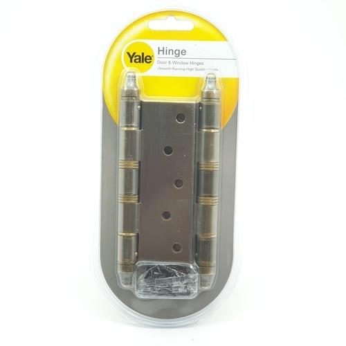 YALE บานพับประตู แกนใหญ่หัวจุกมีหมุด HI-AB54 ทองเหลืองรมดำ