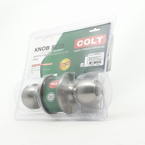 COLT ลูกบิดประตู  6307 SS แผง (ฝาใหญ่)