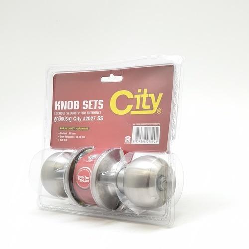 CITY ลูกบิดห้องทั่วไป CITY 2027 SS แผง สีสแตนเลส