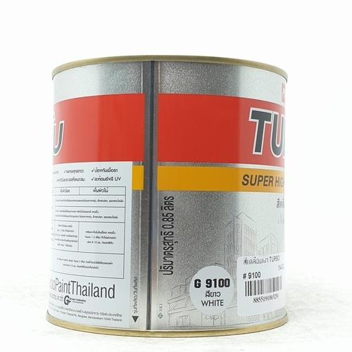 TURBO สีเคลือบเงา  1/4 กล. #9100  สีขาว