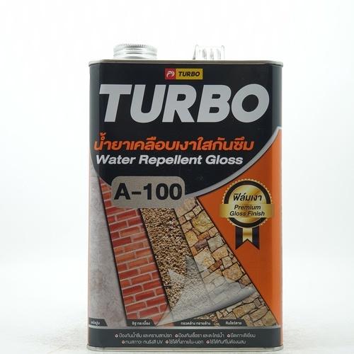 TURBO น้ำยาเคลือบเงาใสกันซึม A-100 ขนาด 3.785 ลิตร