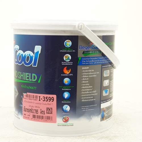 Beger สีทาฝ้า Beger Cool All Plus B-Cool All Plus #3599 กล. สีเทา