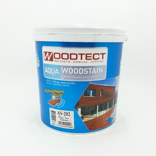 WOODTECT สีย้อมพื้นไม้ AS 202 ไม้แดง