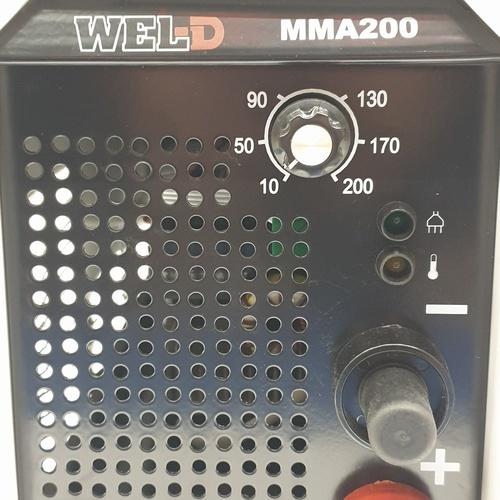 WEL-D เครื่องเชื่อมอินเวอร์เตอร์ MMA 200 สีขาว-ดำ