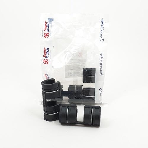 Super Products ตัวล็อคสแลน พลาสติก 2 ชั้น 3/4 นิ้ว (5 ตัว / แพ็ค) GC X ดำ