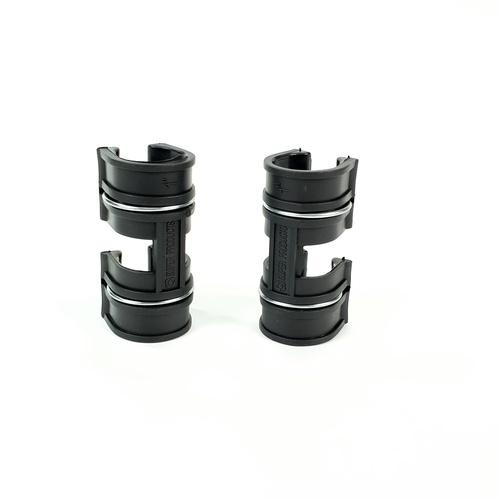 Super Products ตัวล็อคสแลน พลาสติก 2 ชั้น 1 นิ้ว (5 ตัว / แพ็ค) GC X ดำ