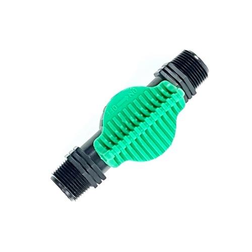 Super Products วาล์วเกลียวสองข้าง ขนาด 3/4 นิ้ว LV34 ดำ-เขียว