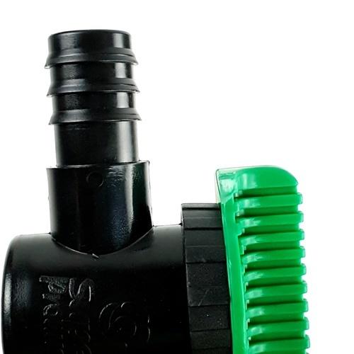 Super Products วาล์วขนาด 25 มม. สองข้าง LV2525 ดำ-เขียว