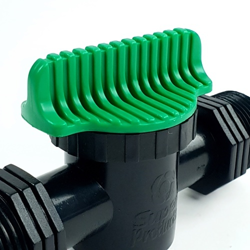 Super Products วาล์วเกลียวสองข้าง ขนาด 1 นิ้ว 359-1010 ดำ-เขียว