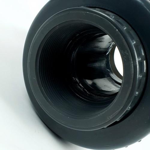 Super Products ยูเนี่ยนวาล์ว 2 นิ้ว UV เทา