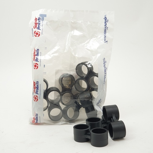 Super Products ตัวรัดปลายท่อ 20 มม. (10 ตัว / แพ็ค) DC ดำ