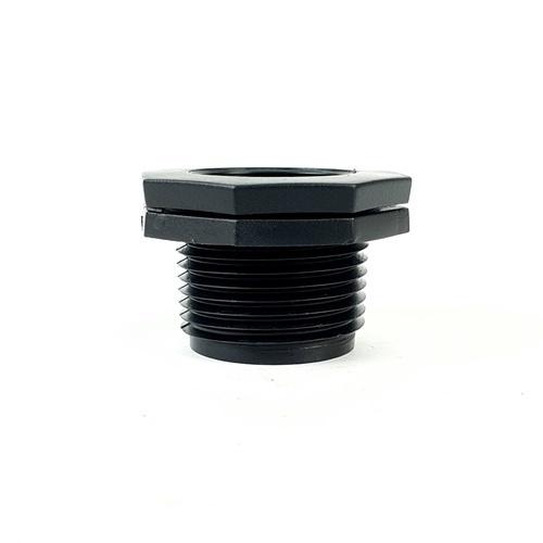 Super Products ข้อลดเหลี่ยมเกลียวนอก - ใน 1 นิ้ว x 3/4 นิ้ว (2 ตัว / แพ็ค) RMF ดำ