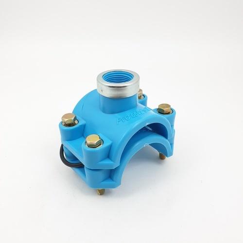 - แคลมป์รัดแยกพีวีซี 2นิ้วx 3/4นิ้วด้านเดียว 312 สีฟ้า