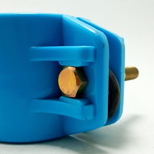 Super Products แคลมป์รัดแยกพีวีซี(ด้านเดียว)1.1/2นิ้วx25มม.(309) 309 ฟ้า