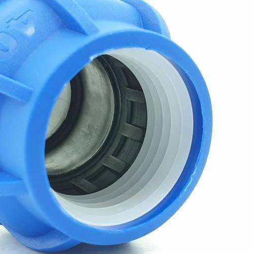 Super Products ข้อต่อตรงเกลียวนอก 40 มม. x 1.1/2 นิ้ว 356-20540112 ฟ้า