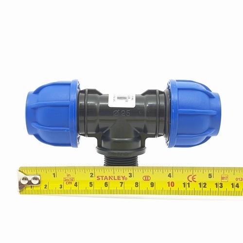 Super Products ข้อต่อสามทางเกลียวนอก3/4นิ้ว(25มม.) 245 ฟ้า