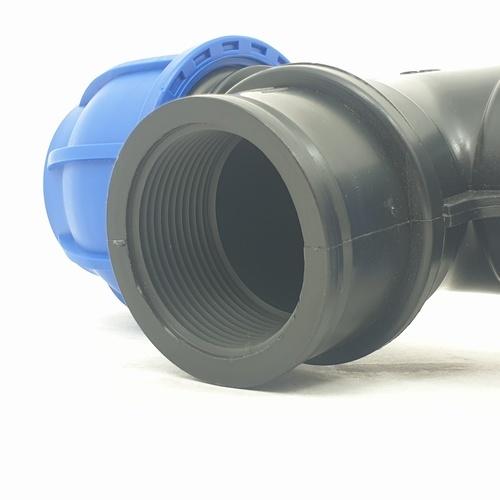 Super Products ข้อต่อสามทางเกลียวใน1.1/2นิ้ว(50มม.) 356-24650112 ฟ้า