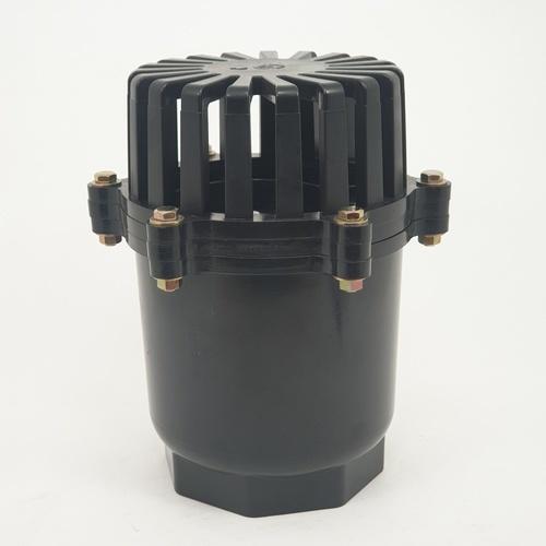 Super Products ฟุตวาล์ว พีวีซี ชนิดลิ้นพลาสติก 4 นิ้ว FV-N ดำ
