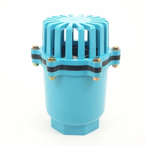 Super Products ฟุตวาล์วชนิดลิ้นพลาสติก 3 นิ้ว BFV-N ฟ้า