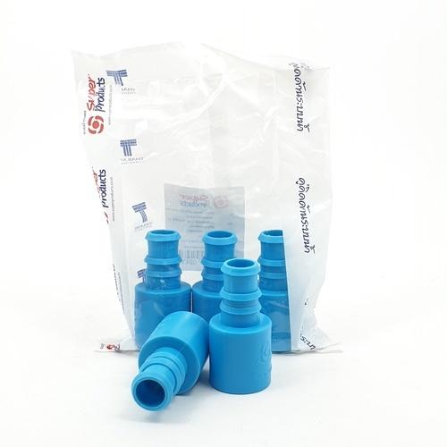 Super Products ข้อต่อตรงพีวีซี-พีอี 3/4 นิ้ว x 25 มม. (5 ตัว / แพ็ค) SX-PVC ฟ้า