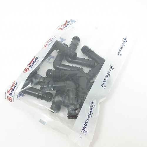 Super Products ข้องอ 90 องศา16มม.(10ตัว/แพ็ค) EB ดำ