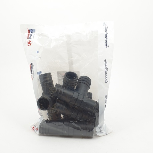 Super Products ข้อต่อสามทาง 32 มม. (5ตัว/แพ็ค) TE ดำ