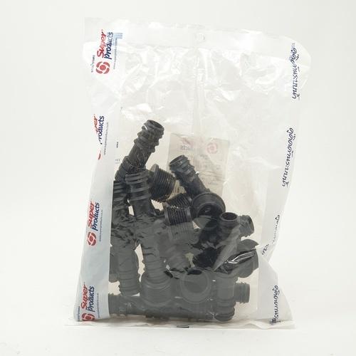 Super Products ข้อต่อสามทางแปลงเกลียวนอก 20x3/4นิ้ว (10 ตัว/แพ็ค) TM ดำ