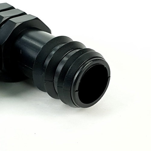 Super Products ข้อต่อสามทางแปลงเกลียวนอก 25x3/4x25นิ้ว (10 ตัว/แพ็ค) TM ดำ
