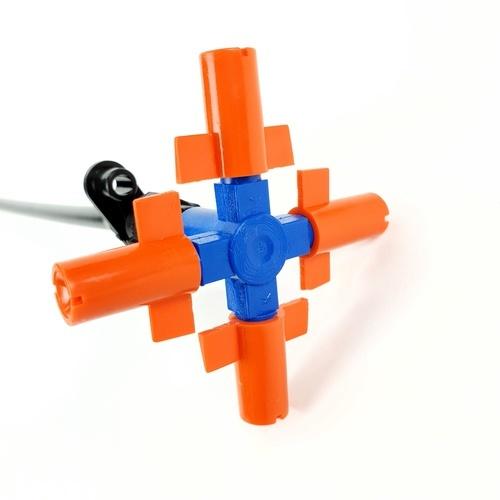 Super Products ชุดหัวพ่นหมอก 4 หัวฉีด พร้อมวาล์วน้ำ 24L/H(5อัน/แพ็ค)  SUPER FOG V SET 4 สีส้ม