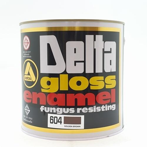 DELTA สีเคลือบน้ำมันเงา 604 น้ำตาล