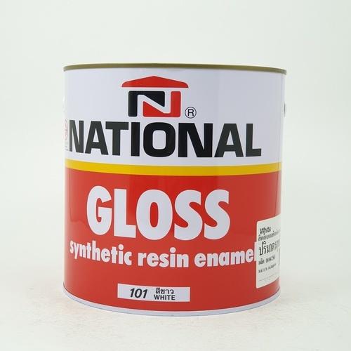 NATIONAL สีเคลือบน้ำมันเงา 101 ขาว