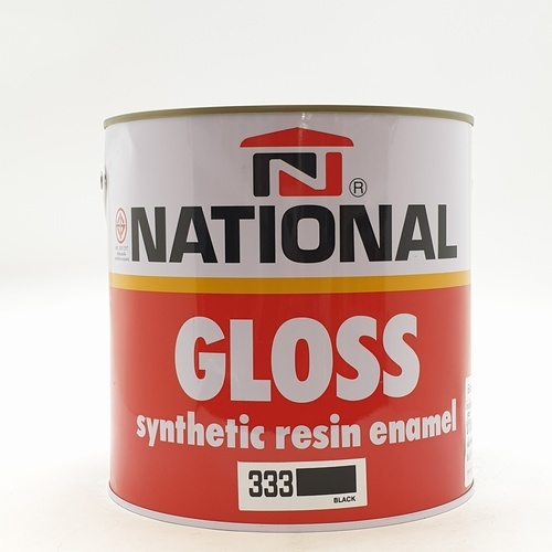 NATIONAL สีเคลือบน้ำมันเงา 333 ดำ