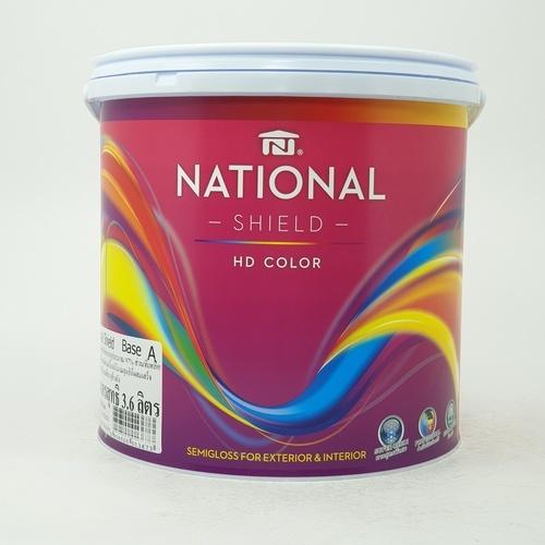 NATIONAL เนชั่นแนลชิลด์  1กล. เบส A สีขาว