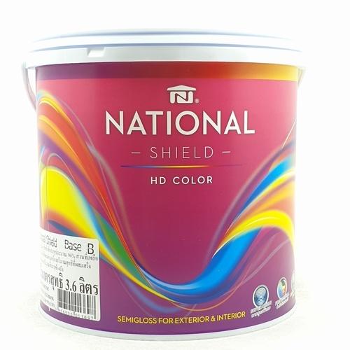 NATIONAL เนชั่นแนลชิลด์ 1กล. เบส B สีขาว