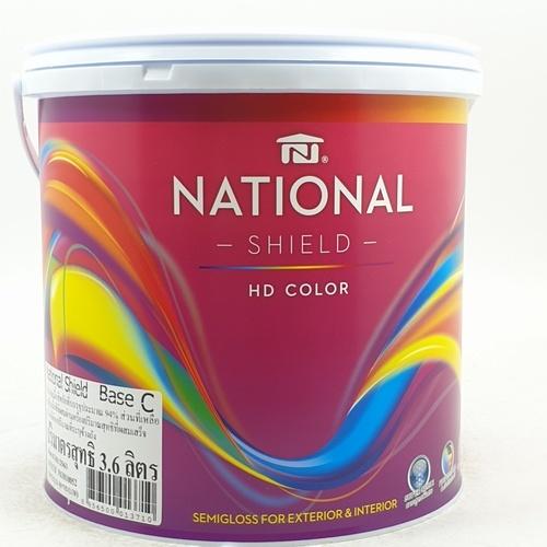 NATIONAL เนชั่นแนลชิลด์ 1 กล. เบส C สีขาว