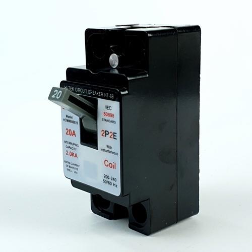 HI-TEK เบรกเกอร์HI-88-20Aสีดำ-มีคอยน์ HCMM880020