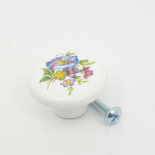 HAFELE ปุ่มจับเฟอร์นิเจอร์ 38x25มม.481.22.130 481.22.130 ขาว/ดอกไม้