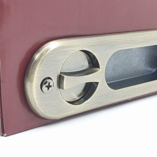 HAFELE HAFELE มือจับประตูบานเลื่อนซิงค์อัลลอยด์ห้องน้ำ 499.65.094 สีทองเหลืองรมดำ 499.65.094