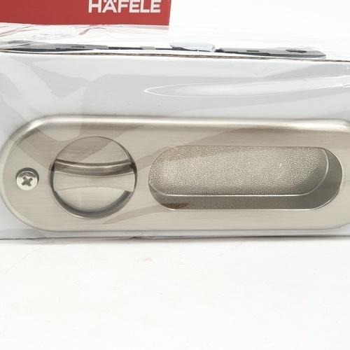 HAFELE HAFELE มือจับประตูบานเลื่อนซิงค์อัลลอยด์ห้องน้ำ 499.65.095 สีนิกเกิ้ลด้าน 499.65.095