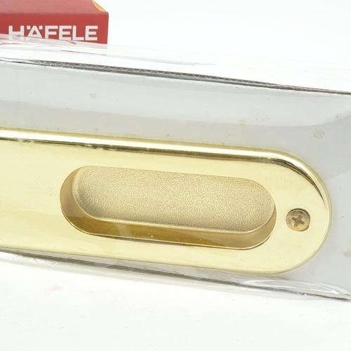 HAFELE HAFELE มือจับประตูบานเลื่อนซิงค์อัลลอยด์บานหลอก 499.65.096 สีทองเหลืองเงา 499.65.096