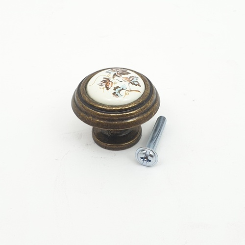 HAFELE ปุ่มจับเฟอร์นิเจอร์ ขนาด 33x26 มม. 481.22.008 ทองเหลืองรมดำ
