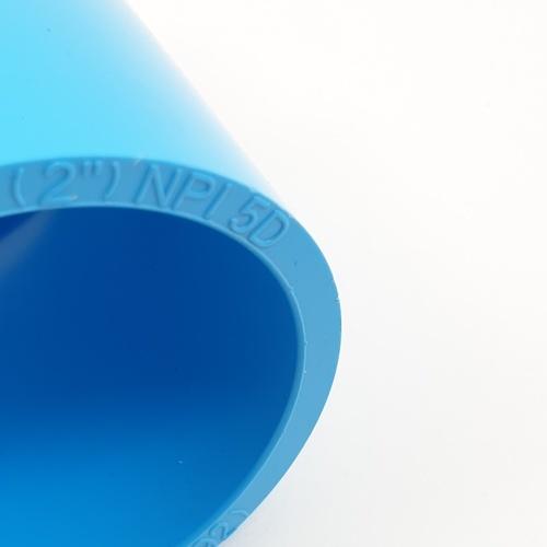SCG ข้อต่อตรงเกลียวนอก หนา (55) ขนาด 2 นิ้ว สีฟ้า