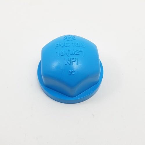 SCG ฝาครอบเกลียวใน-หนา   1/2 นิ้ว  18 มม. สีฟ้า