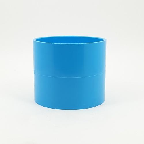 SCG ข้อต่อตรง-บาง  4 นิ้ว (100) สีฟ้า